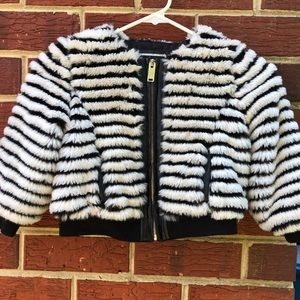 River Island Girls Fur Coat Size 4T
